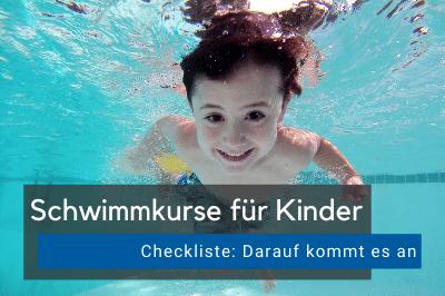 Schwimmkurse für Kinder Checkliste